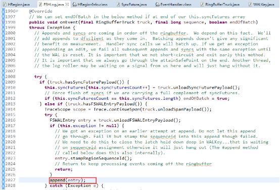 Hbase WAL 线程模型源码分析